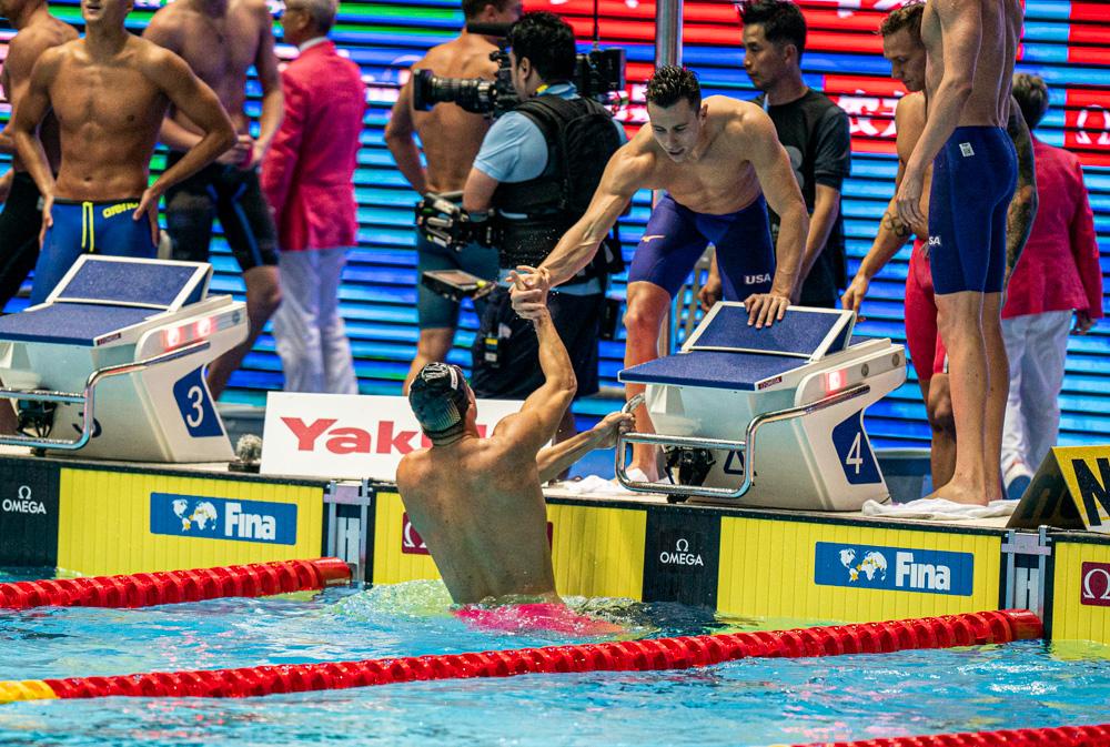 Nathan Andrian and team-usa-400-free-relay-2019-world-championships_6