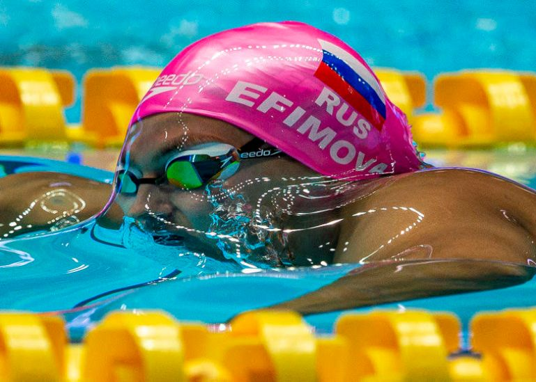 Yuliya Efimova of Russia on her way winning in the women's 200m Breaststroke Final during the Swimming events at the Gwangju 2019 FINA World Championships, Gwangju, South Korea, 26 July 2019.