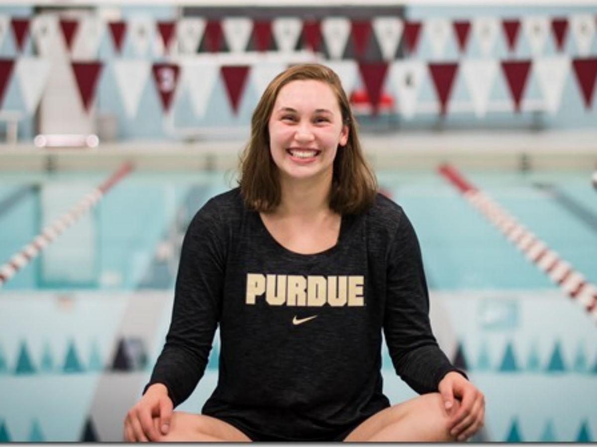 Sprinter Kali Sayovitz of Alexandria Swim Club Gives Verbal Nod to Purdue