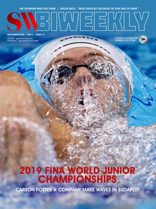 SW Biweekly -  Making Waves in Budapest: Full Finals Recap of the 2019 FINA World Junior Championships - Cover