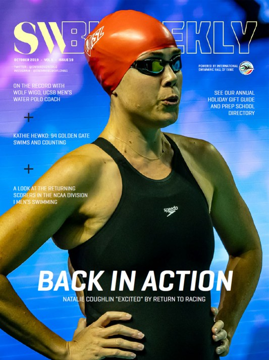 SW Biweekly - Back in Action: Natalie Coughlin Returns to Racing - Cover