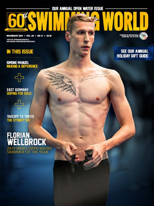 Swimming World Magazine November 2019 Issue - PDF ONLY - Cover