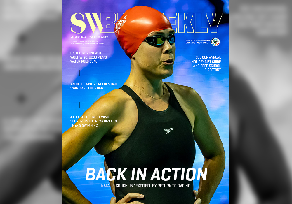 SW Biweekly – Back in Action: Natalie Coughlin Returns to Racing – On Sale Now!