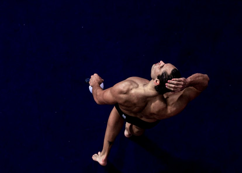 Florent Manaudou at the European Championships in Glasgow - Photo Courtesy: Patrick B. Kraemer / MAGICPBK