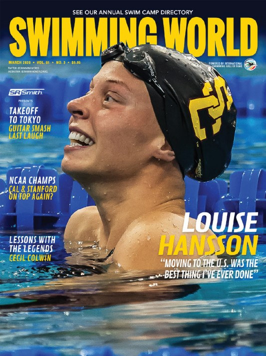 Swimming World Magazine March 2020 Issue - PDF ONLY - Cover