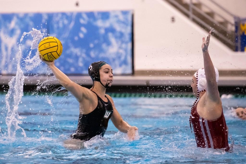 Wagner Women's Water Polo vs Indiana at Crisler Center in Ann Arbor, MI on Jan. 25, 2020.