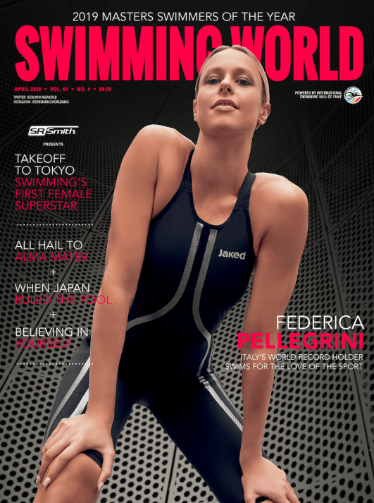 Swimming World Magazine April 2020 Issue - PDF ONLY - Cover