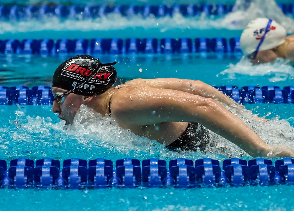Swimming World March 2020 - College Previews - NCAA Division II and III - Tori Sopp - Drury - By PHB