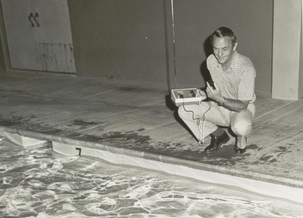 Swimming World March 2020 - Lessons with the Legends - Cecil Colwin coaching on pool deck