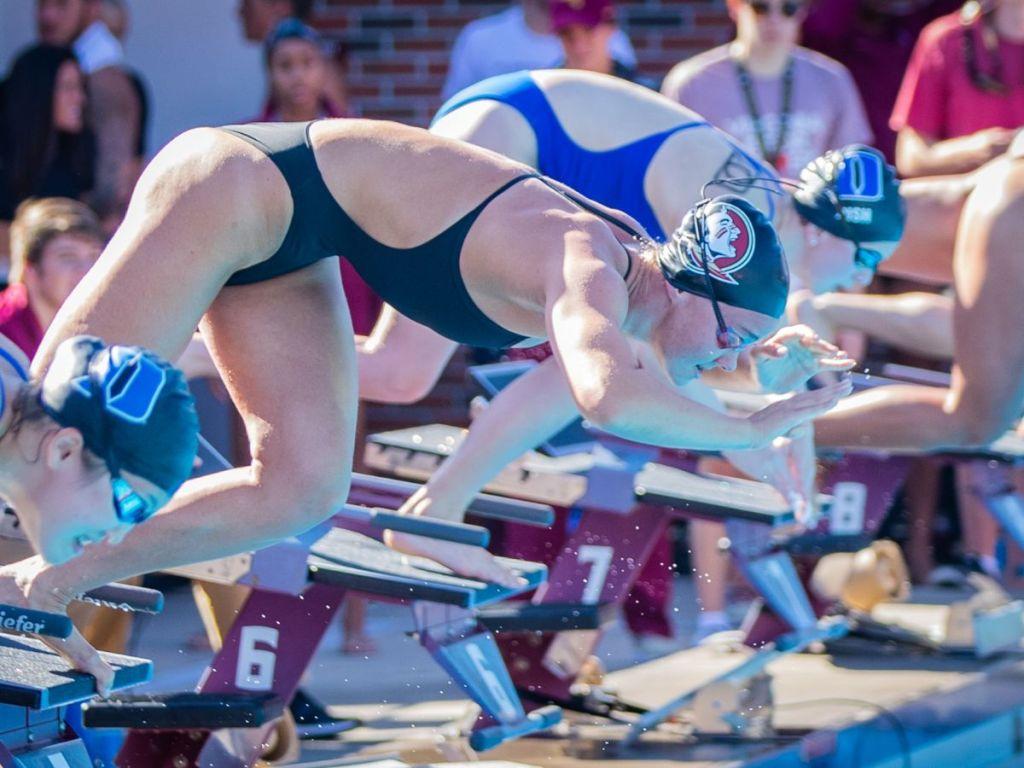 florida state fsu seminoles dive start race