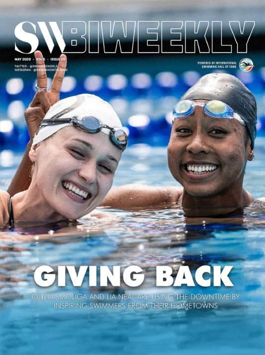 SW Biweekly - Giving Back: Olivia Smoliga and Lia Neal Use Downtime By Inspiring Swimmers From Their Hometown - Cover