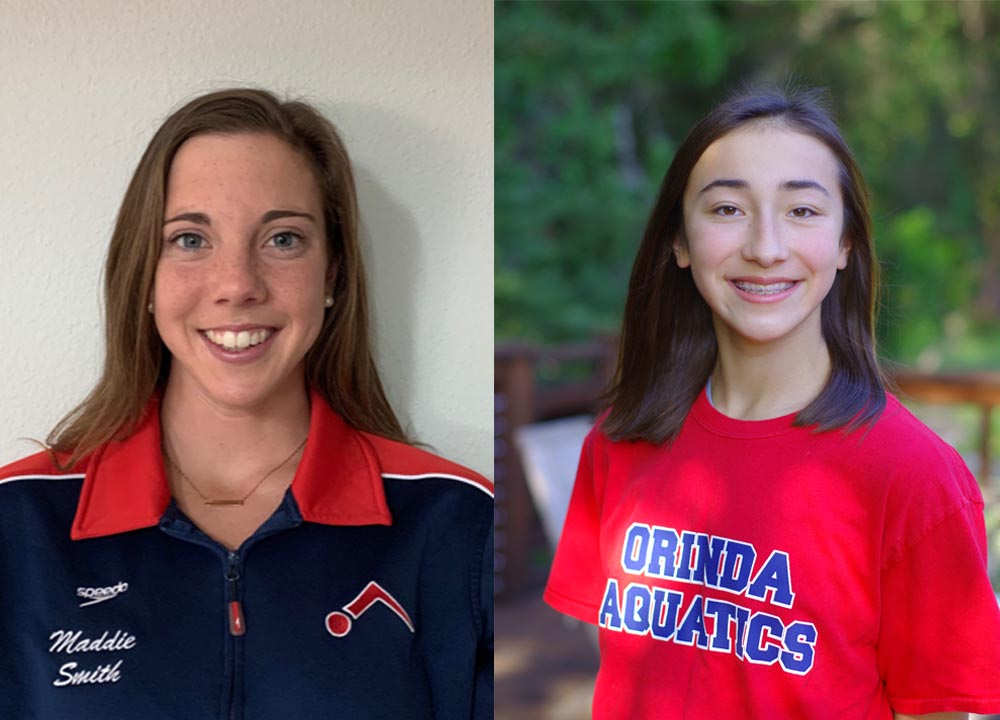 Swimming World May June 2020 - How They Train - Orinda Aquatics' Maddie Smith and Emilia Barck