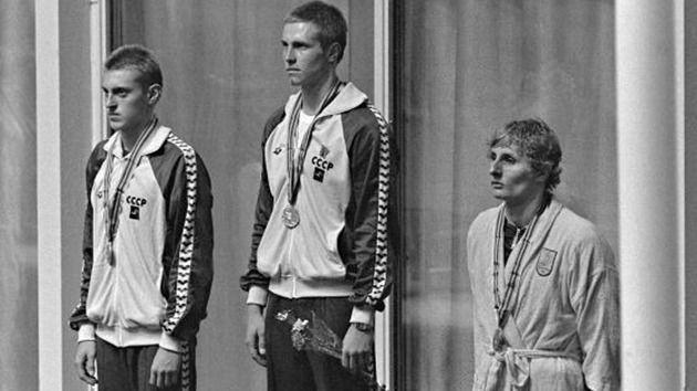 MOS 1500m prewsentation (L-R) Aleksandr Chayev, Vladimir Slnikov, Max Metzker.