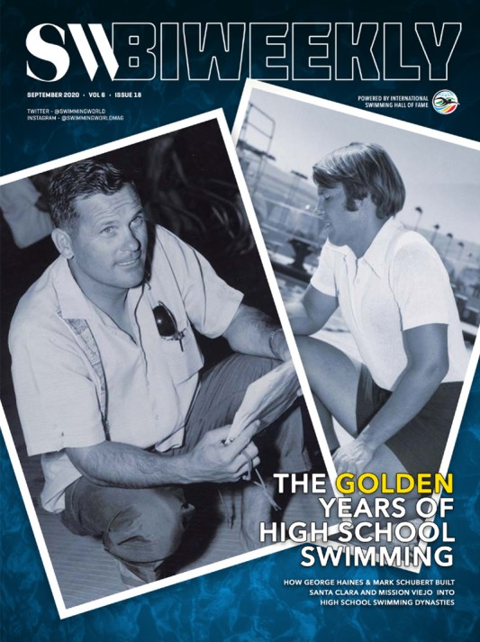 SW Biweekly - George Haines and Mark Schubert: How They Built Santa Clara and Mission Viejo Into High School Swimming Dynasties - Cover