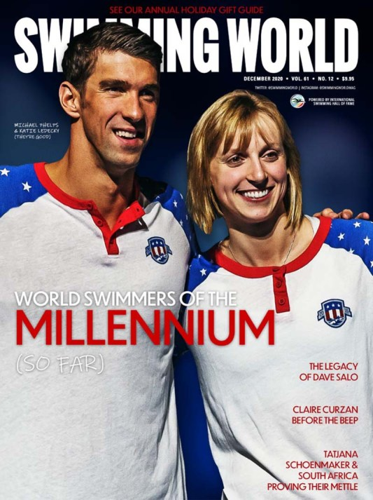 Swimming World Magazine December 2020 Issue - PDF ONLY - Cover