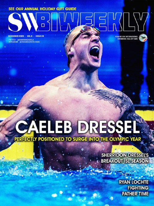 SW Biweekly - Caeleb Dressel: Perfectly Positioned To Surge Into The Olympic Year - Cover
