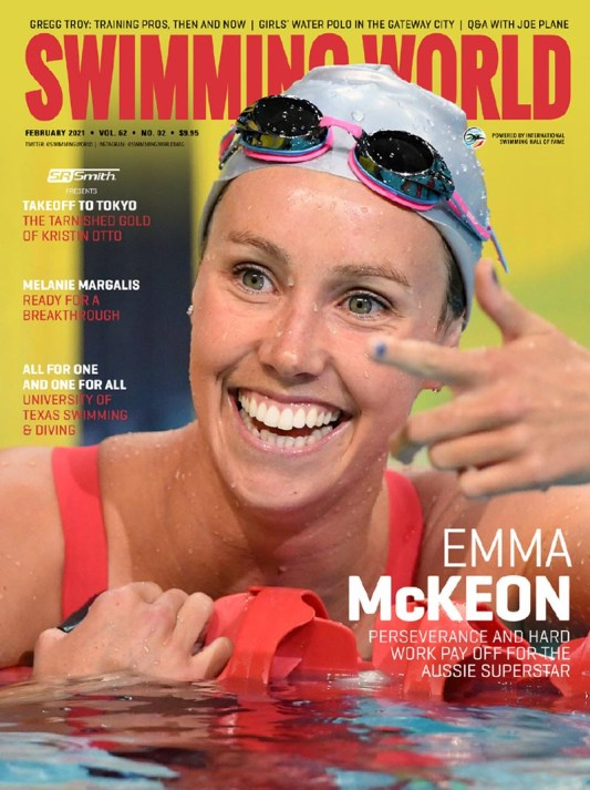 Swimming World Magazine February 2021 Issue - PDF ONLY - Cover