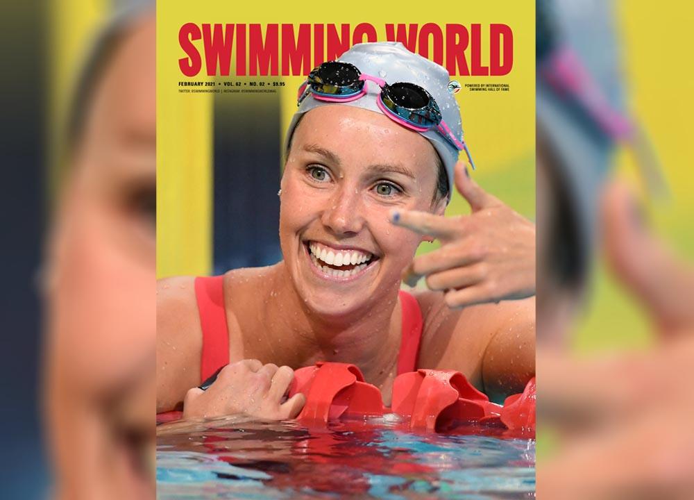 Swimming World February Cover Teaser - Emma McKeon