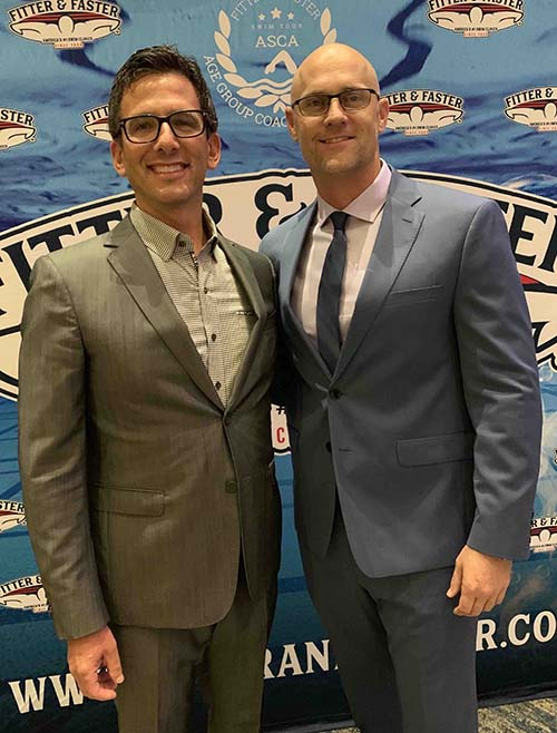 Brett Hawke and David Arluck at the ASCA World Clinic in 2019