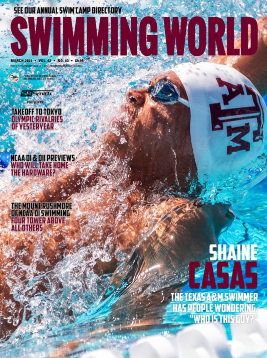 Swimming World Magazine March 2021 Issue - PDF ONLY - Cover