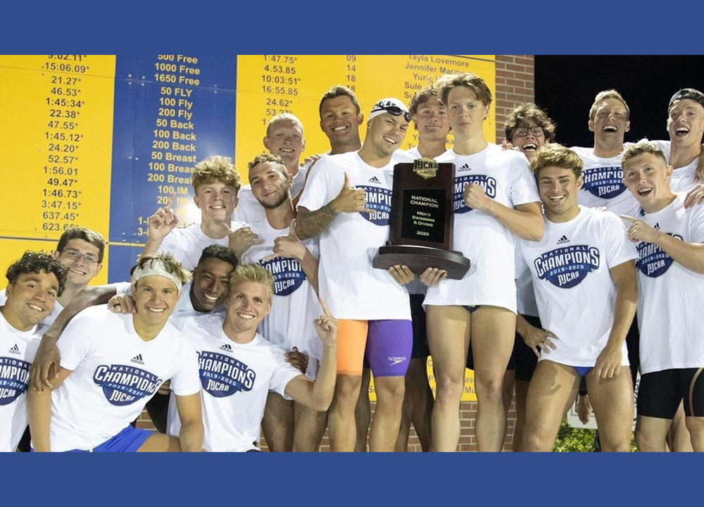 Swimming World April 2021 - NJCAA Preview - Death Taxes and Indian River