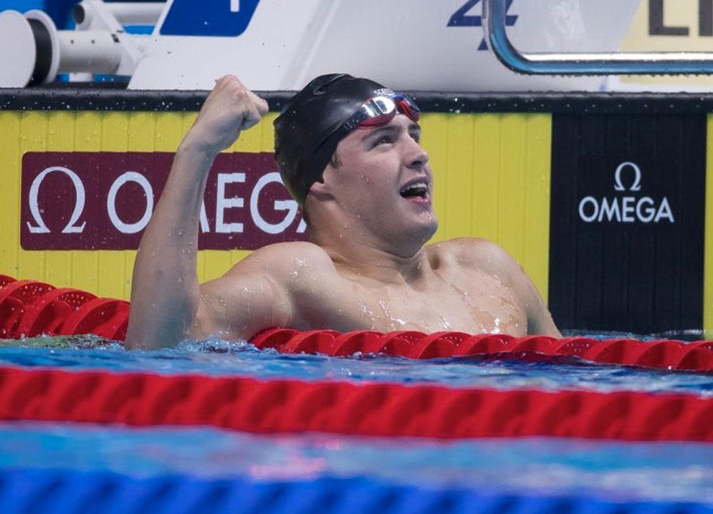 Swimming World June 2021 - Josh Matheny - Rising Star