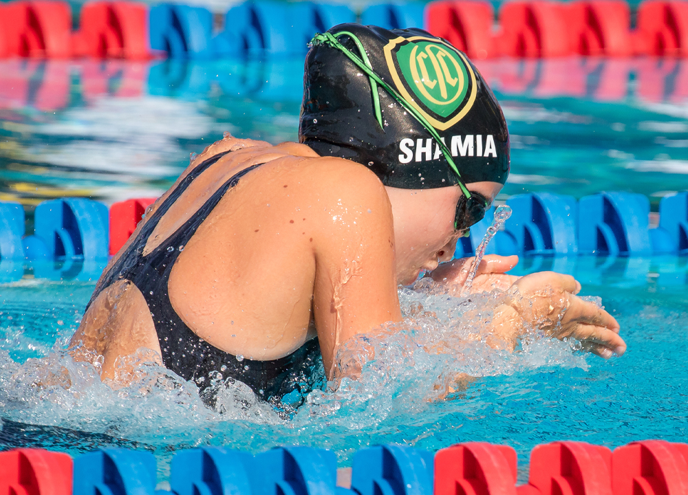 Swimming World May 2021 How They Train - Orinda Aquatics Charlotte Shamia