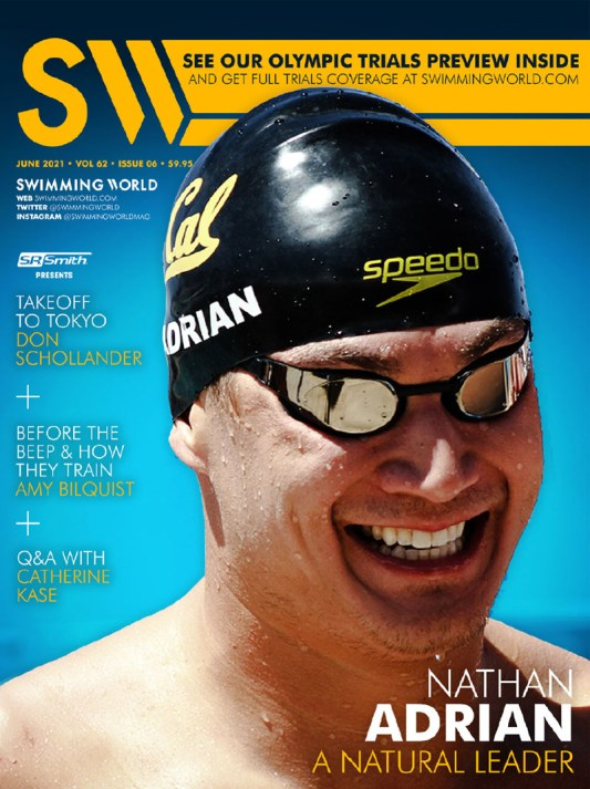 Swimming World Magazine June 2021 Issue - PDF ONLY - Cover