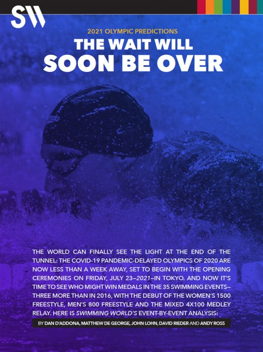 FREE Swimming World Special Edition: 2021 Olympic Predictions - Cover