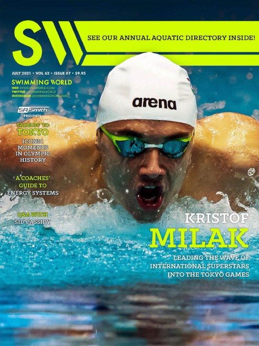 Swimming World Magazine July 2021 Issue - PDF ONLY - Cover