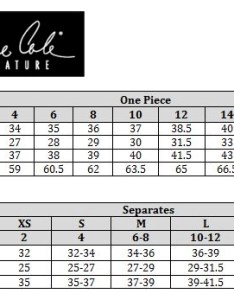 Anne cole size chart also swimstyle fit guide charts by brand rh