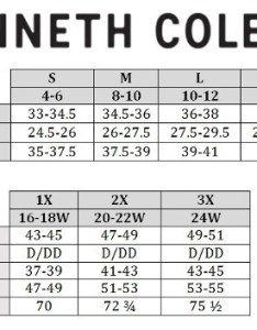 Kenneth cole size chart also swimstyle fit guide charts by brand rh
