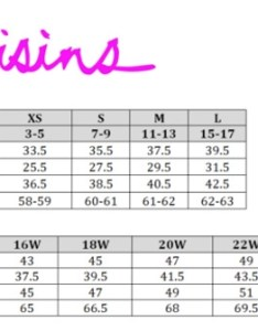 Raisins size chart also swimstyle fit guide charts by brand rh
