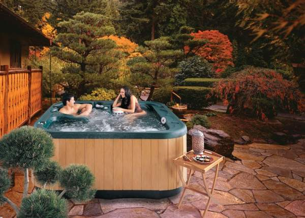 hot tub landscaping beginner