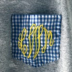 LMW monogram pocket on jersey