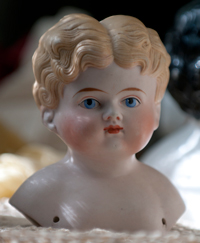Blond China Head Doll
