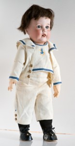 Antique French bisque and composition doll