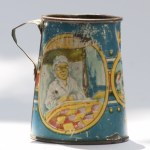 Miniature tin tankard for dolls with story book theme