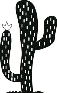 Flowering Cactus Icon from the Free Icon and Symbols Collection