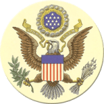 emblem of eagle from discharge papers US Army