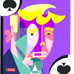 Trump of Spades playing card
