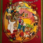 Ringling Bros. and Barnum & Bailey Showcase poster with clowns, trapeze artist, elephant, and more ...