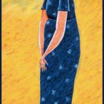 First Lady Eleanor Roosevelt, painted by Eleanor Roosevelt by Herman Perlman