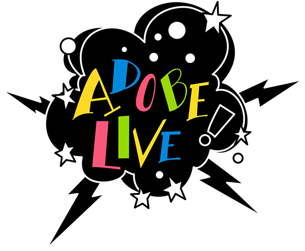 Adobe Live lettering sticker art