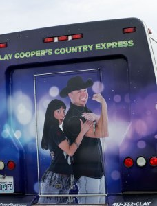 Clay Cooper's Country Express shuttles tourists to Legends of Golf Tournament 2018