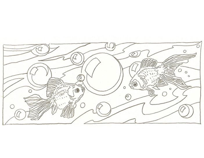 Swim Yellow Duck-Art-Coloring-Pages