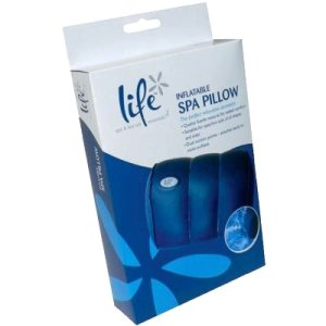 Life Inflatable Spa Pillow with Suction Cups for Hot Tubs and Baths - Swindon Pool Hot Tub & Spa Chemicals And Accessories