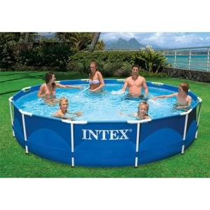 Intex 12ft x 30in Metal Frame Pool Package - Swindon Pool Hot Tub & Spa Chemicals And Accessories