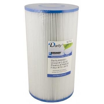 Darlly SC712 - 27cm Hot Tub Filter Cartridge for HotSpring and Hyropool Spas - Swindon Pool Hot Tub & Spa Chemicals And Accessories