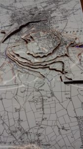 Contour map of Swindon